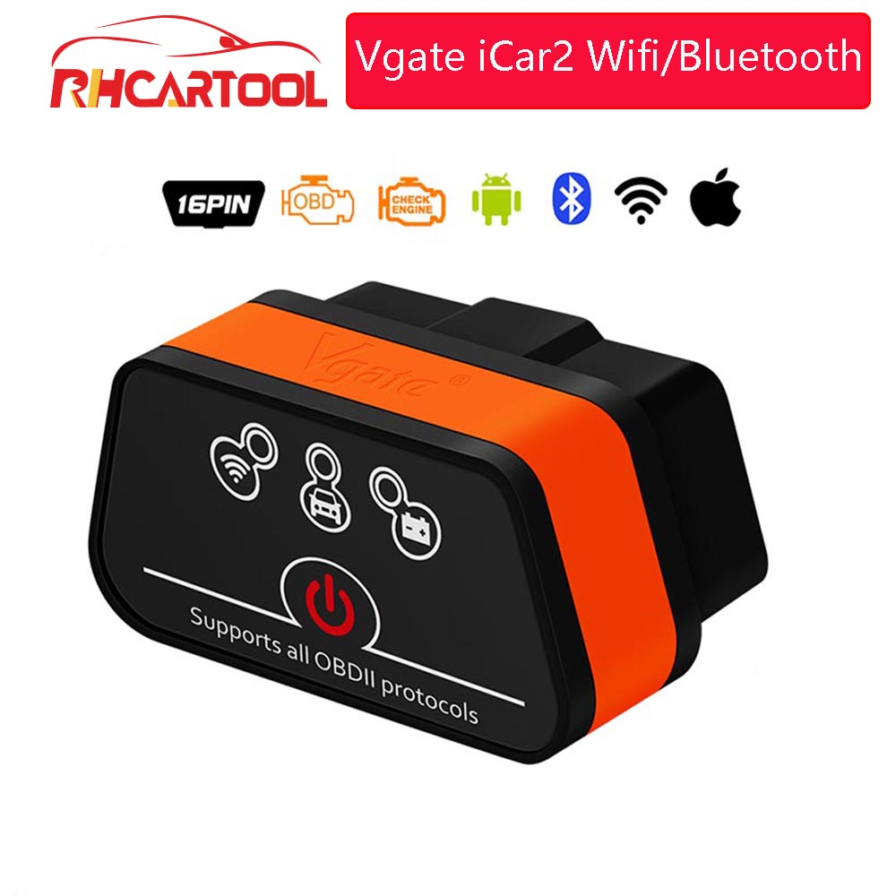 ELM327 Vgate iCar2 Wifi/Bluetooth OBD2 диагностический инструмент для IOS iPhone/Android/ПК icar 2 Bluetooth wifi ELM