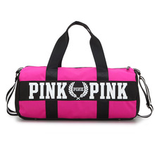 Sport-Bag Travel Handbags Nylon Pink Clothing Training Waterproof Woman for Fitness Outdoor
