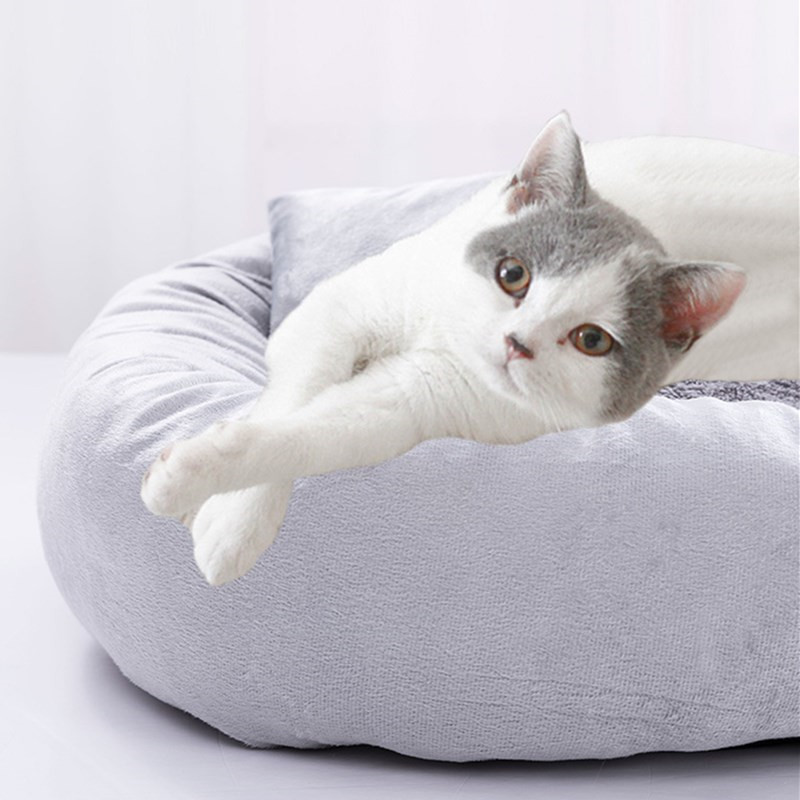 Egg Tart Shape Pet Bed Warming Dog House Soft Material Sleeping Bag Non Slip Cushion Kitten Puppy Kennel Cats Products for Pets 2