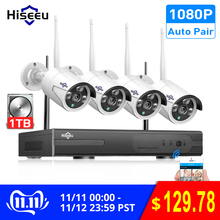 Hiseeu Cctv-System Video-Surveillance-Kit Outdoor 2MP 1080P 4pcs Wireless 1TB NVR Ip-Ir-Cut