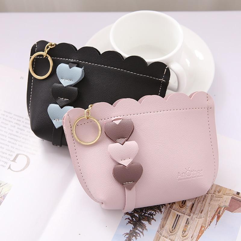 Women Girls Mini Coin Purse Key Holder Change Wallet Headset Storage Bags Pouch