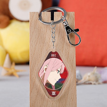 Pendant Keychain Darling Zero Two-Figure The-Franxx Hot-Anime Transparent Japan Peripheral
