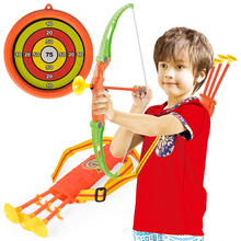 Toy Bow-Arrow-Set Shooting Kids Sucker Plastic Outdoor for Children Funny with Gifts-Set
