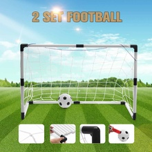Soccer Goals Training-Set Kids Football Ball-Pump Posts-Nets Practice Portable Children