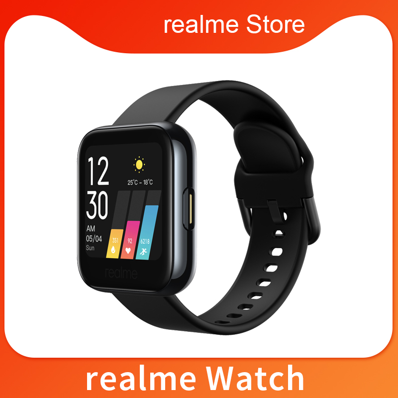 Global Version realme Watch Smart Watch Heart Rate Blood Oxygen 1.4inch Large Touchscreen 14 Sport Model IP68 Waterproof