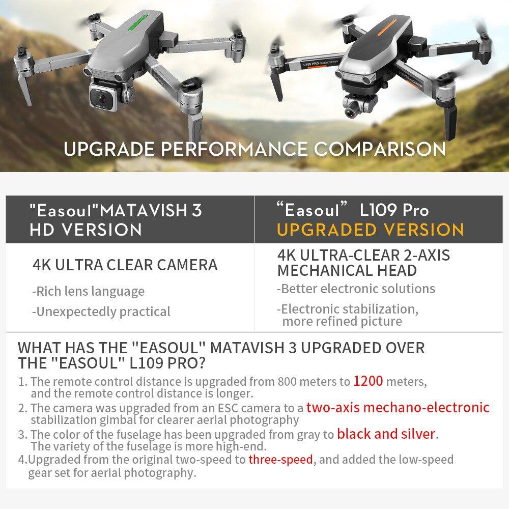 Flyer - L109PRO GPS Drone 4K Quadcopter HD ESC Camera Brushless 5G WiFi FPV HD ESC Camera Brushless Helicopter Long Flight Time