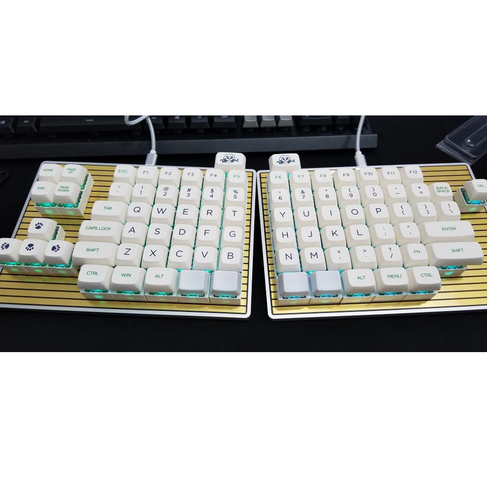 DK6 Ergo Board Movable Split Keypad for Hot Swapable Magnetic Programmable RGB Backlight Mechanical Keyboard