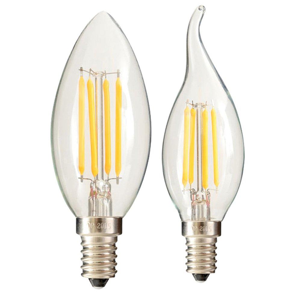 LED E27 E14 Edison Filament Bulb Light Candle Flame 2W 4W 6W Retro Style Lamps