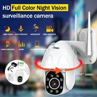 Full HD 1080P PTZ Camera Surveillance 5MP WIFI Infrared Camera CCTV Camera Security Outdoor Color Night Vision Dome Camera