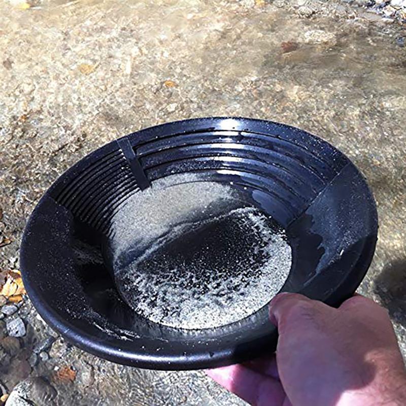 Schwarzer Kunststoff Gold Pan Basin Nugget Mining Baggerarbeiten Prospektio V5J8