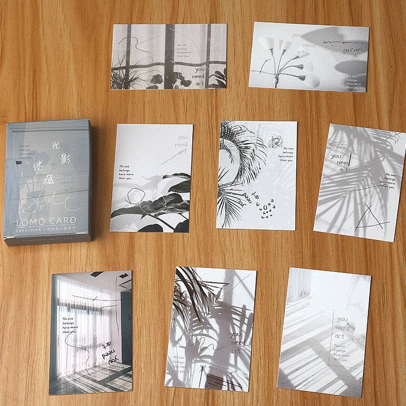 28 Sheets/Set Between Light and Shadow Lomo Card Van Gogh Vintage Oil Painting Mini Postcards Message Card