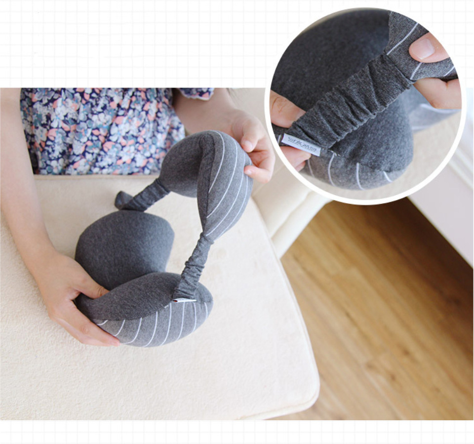 Multifunction Business Travel Neck Pillow Foam U Shaped Travel Pillow Neck Support For Airplane Cushion Cervical Pillow&Eye Mask (8)