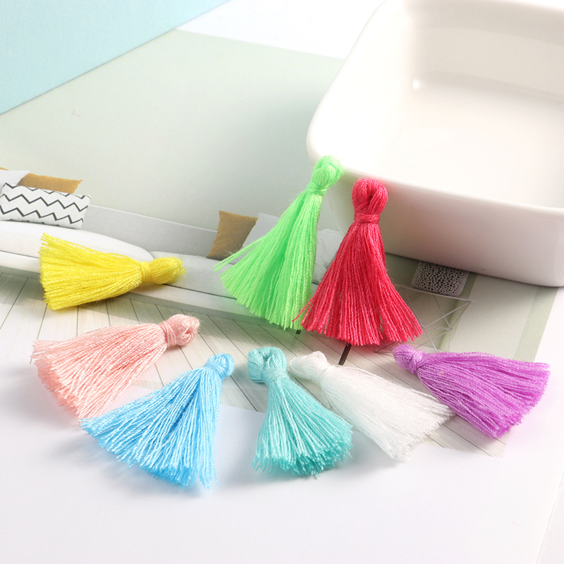 Cardmaking /& Crafts Sewing DIY Pack 10 x Purple 3cm Cotton Tassels For Sewing