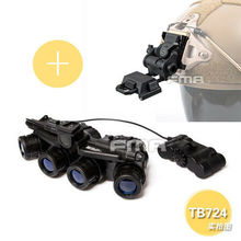 FMA Tactical GPNVG 18 DUMMY NVG Model + Plastic L4G24 NVG Mount BK 1*Set