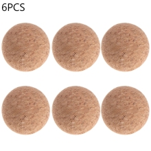 6pcs 36mm Table Football Cork Solid Wood Foosball Table Soccer Ball Fussball