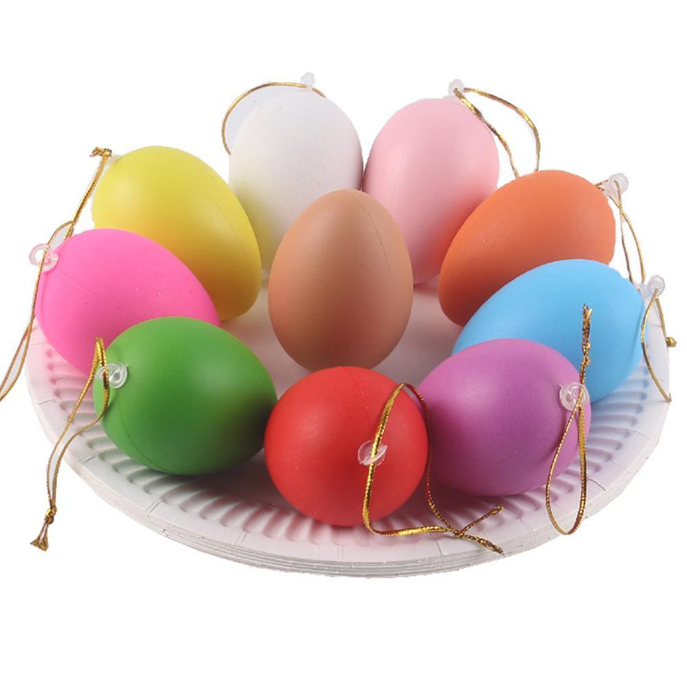 12pcs Easter Eggs Painted Eggs Set Kids Handmade DIY Cartoon Graffiti Gift New