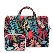 Laptop-Bag Briefcase Computer-Package 11-15.6inch Tablet Leaf-Pattern Color Retro