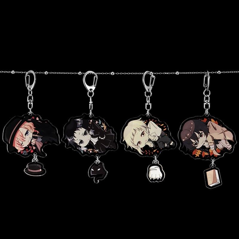 Anime Key Chain Bungo Stray Dogs Acrylic Keychain Pendant Key Accessories