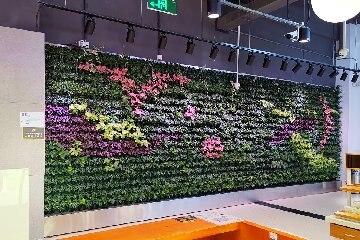 【温州植物墙】世纪联华超市(乐清) 平面+圆柱绿植墙