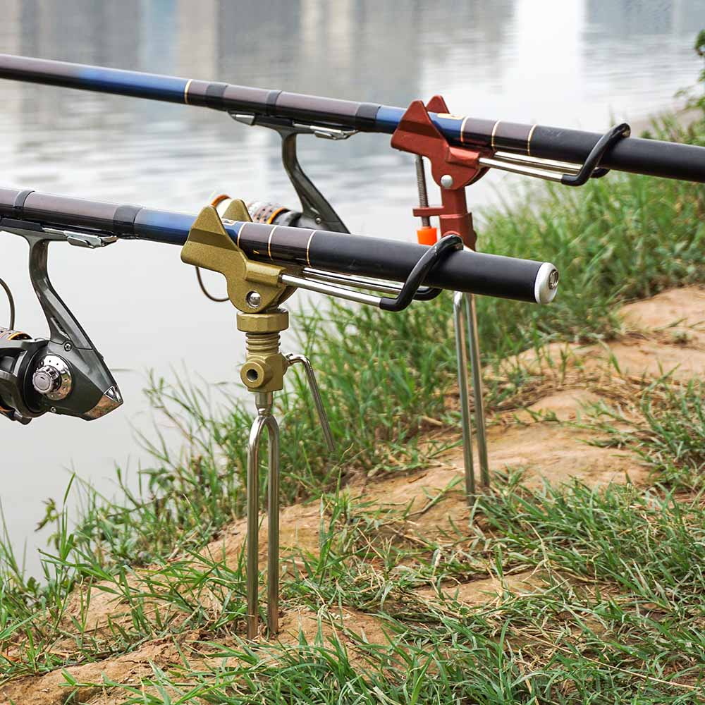 Adjustable Detachable Non-Slip Stainless Ground Support Stand Fish Pole Holder