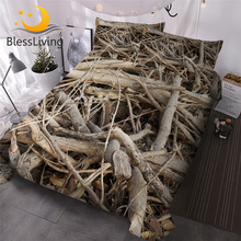 Bedding-Set Bedspreads Duvet-Cover-Set Weed Branches Plant 3d-Printed Blessliving 3pcs