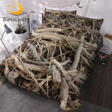 BlessLiving Tree Branches Duvet Cover Set 3D Printed Bed Cover Weed Plant Bedding Set Nature Bedspreads 3pcs King Size Drop Ship(China)