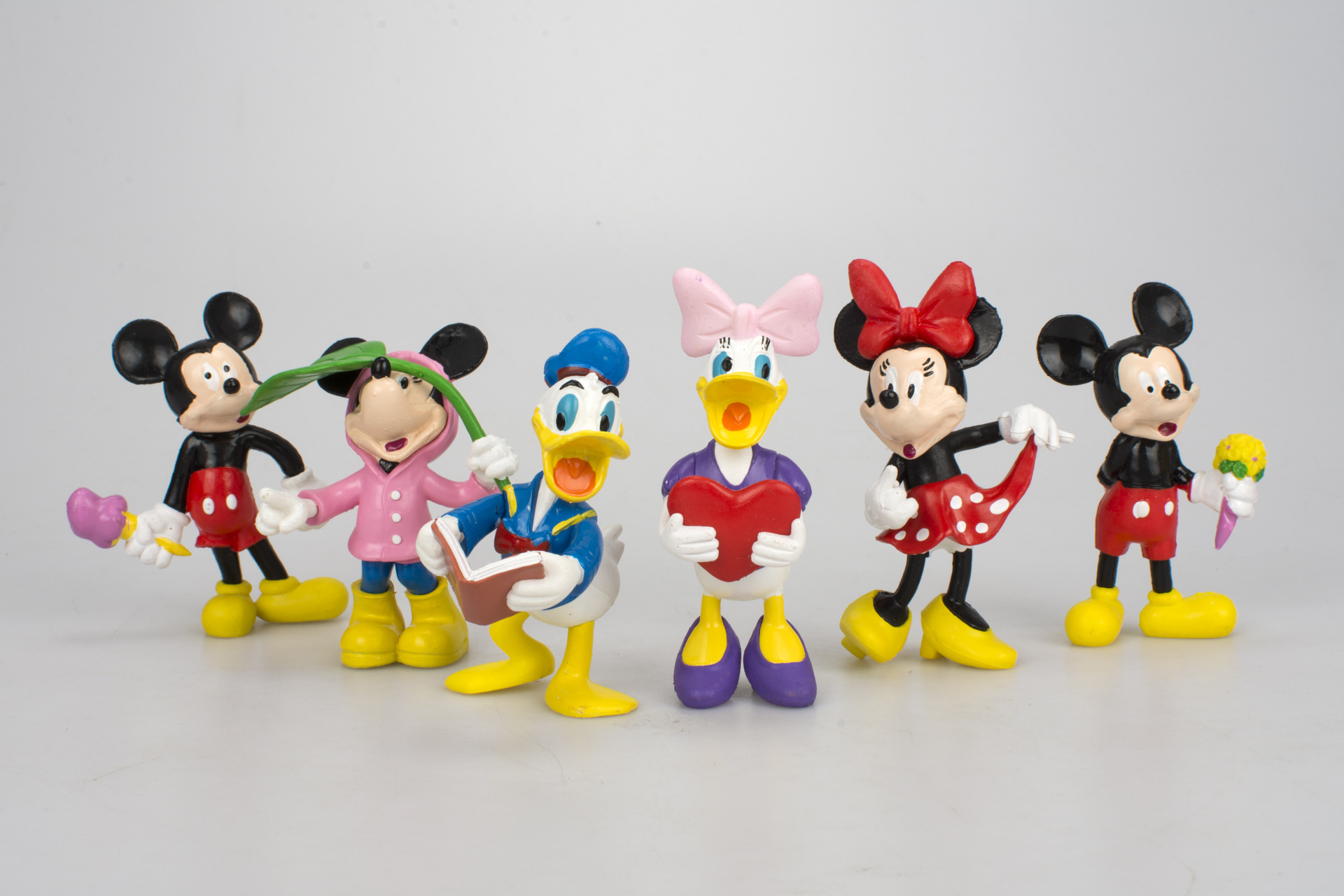 6pcs//set Disney Figures Mickey Mouse Minnie Mouse Clubhouse Birthday Party Cake