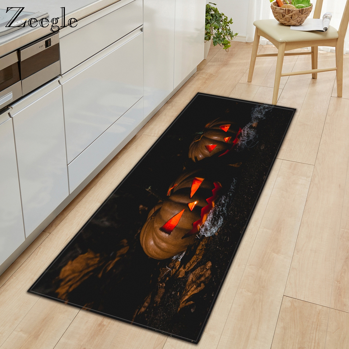 Zeegle Carpet Non-slip Kitchen Floor Rug Hallway Carpet Washable Living Room Carpet Absorproof Bathroom Shower Mat Soft Foot Mat