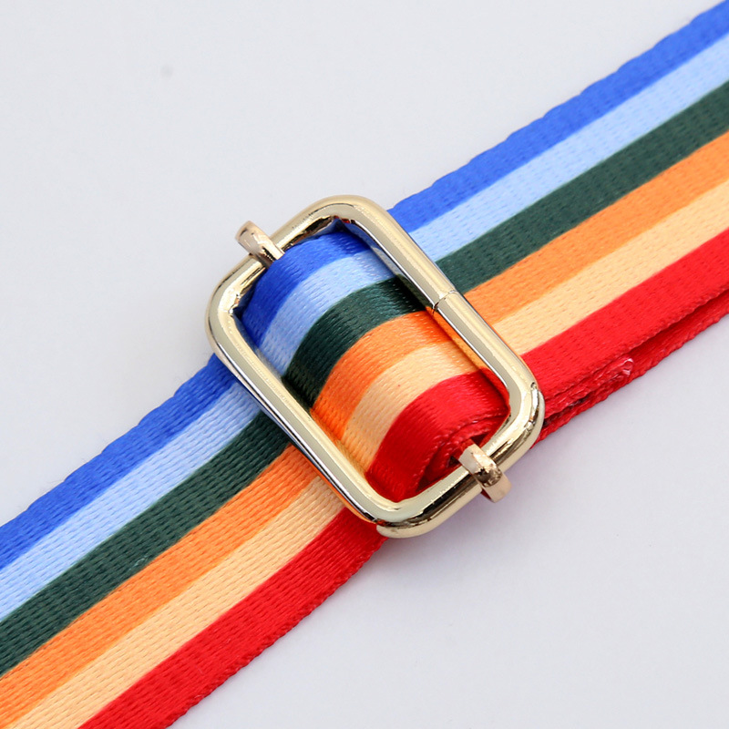 Ethnic Colored Shoulder Strap Bag DIY Adjustable Belt Bag Strap for Crossbody Handbag Replacement Women Bag Accessories W227