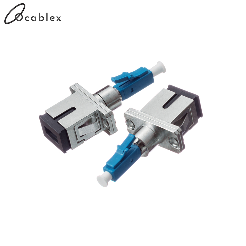 2pcs/lot SC Female to LC Male for Optical FiberSingle Mode Fiber Optic Adapter LC/UPC-SC/UPC Fast Connector Free Shipping