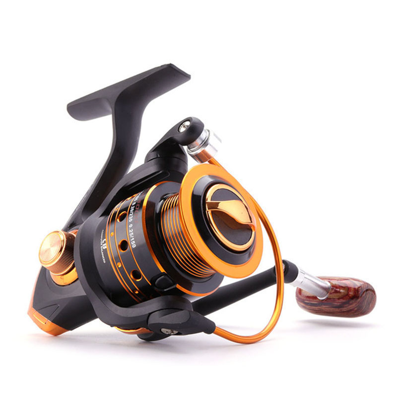 Fishing-Reel Boat 1-Bearing-Balls Metal 500-9000-Series 12BB Spinning Rock title=