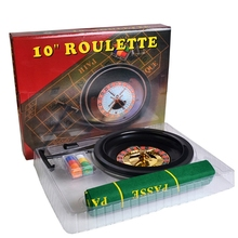 10 inch Roulette Game Set with Table Cloth Poker Chips for Bar Party Borad Game