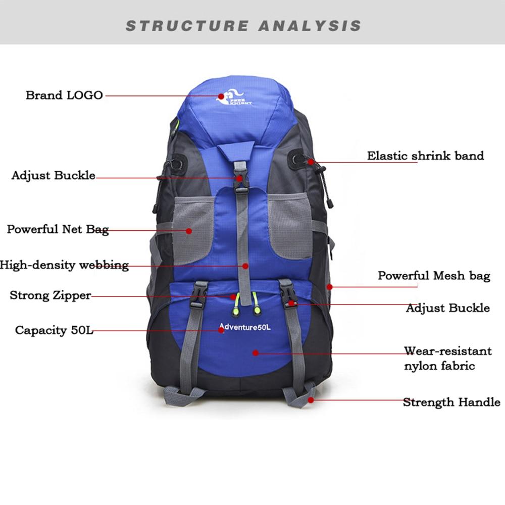 Outdoor Rucksack Camping Hiking Backpack Trekking 45L&50L Purple Waterproof Sports Bag Backpacks Bag Climbing Travel Rucksack22