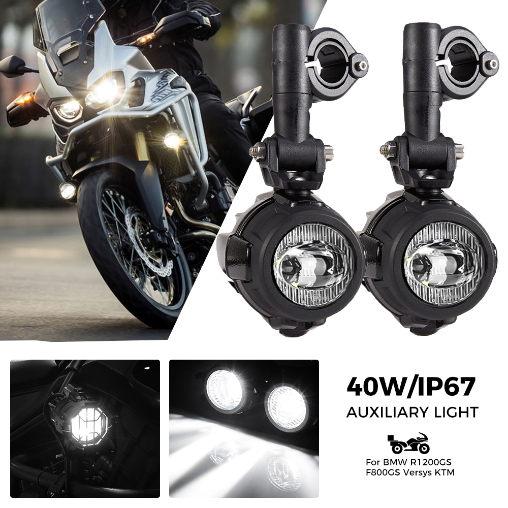 40W LED Fog Lights For Honda Africa Twin CRF1000L NC700X For Honda CRF 1000 L ADV Motorcycle Accessories Auxiliary Assembliy title=