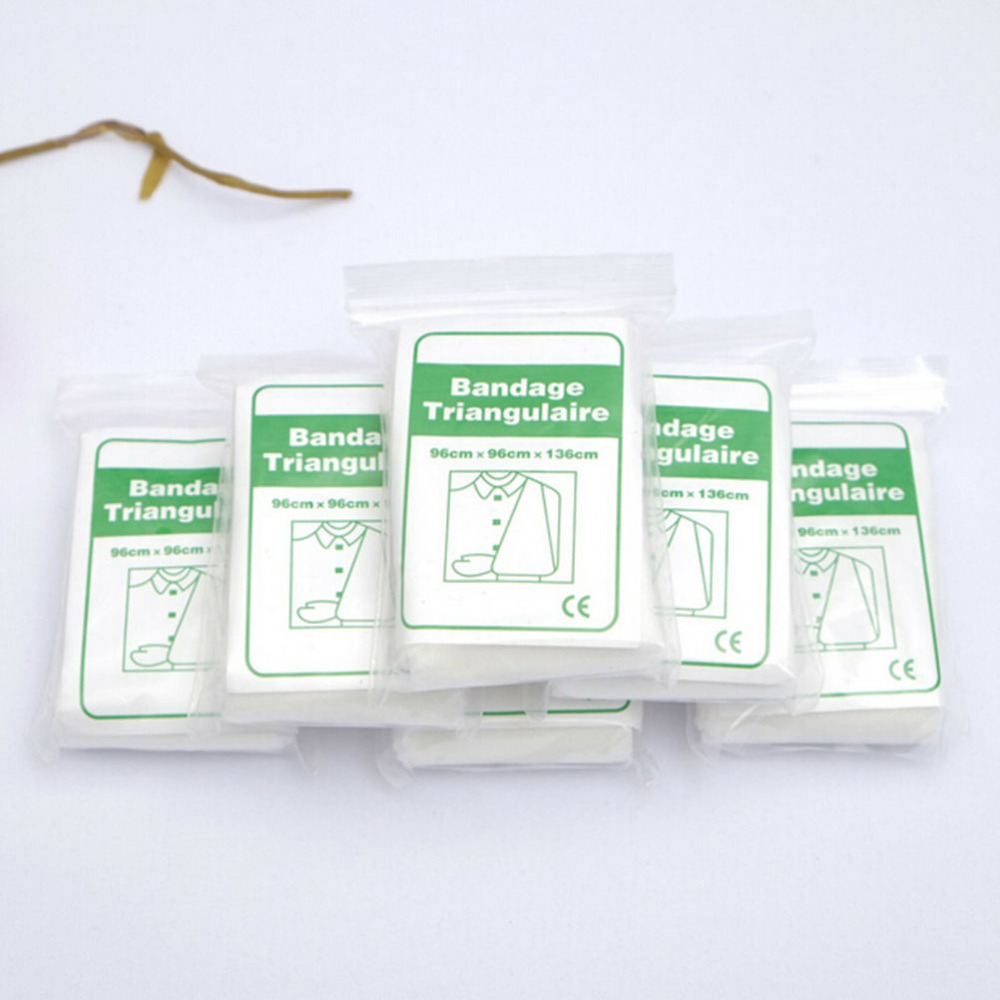 Non Woven Brace Bandage Triangulaire Emergency Kit First Aid Medical Supplies Health Care Conforming Bandage For Wound New