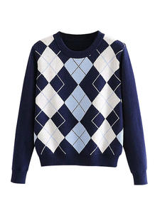 Sweater Top Diamond-...