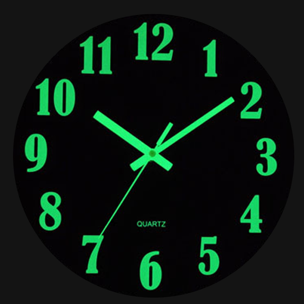 Wall-Clock Wooden Living-Room-Decor Digital Kitchen Glowing-In-The-Dark Vintage Luminous title=
