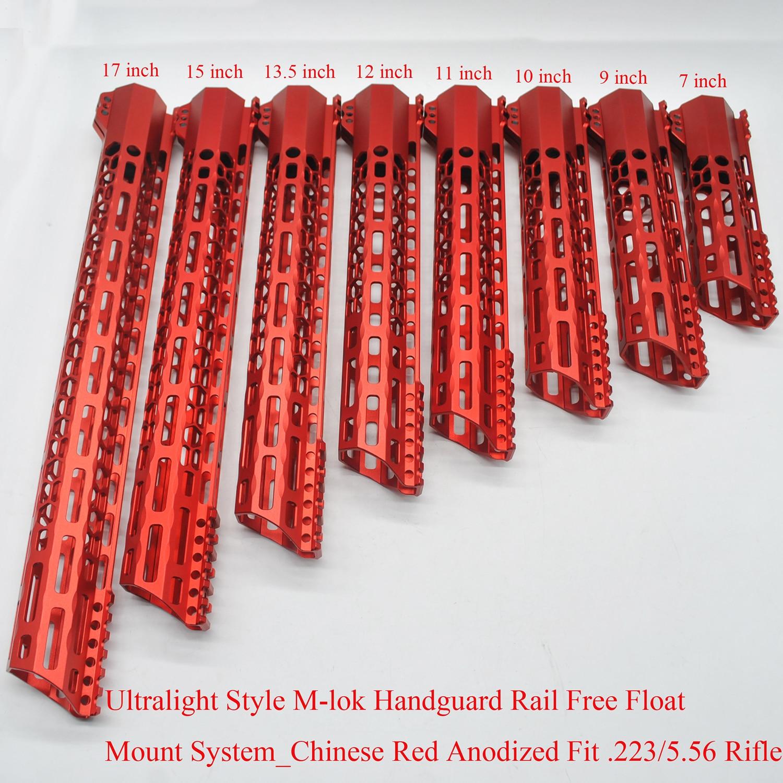 Tan 7,9,10,11,12,13.5,15/'/' inch Clamping M-lok Handguard Rail Free Float System