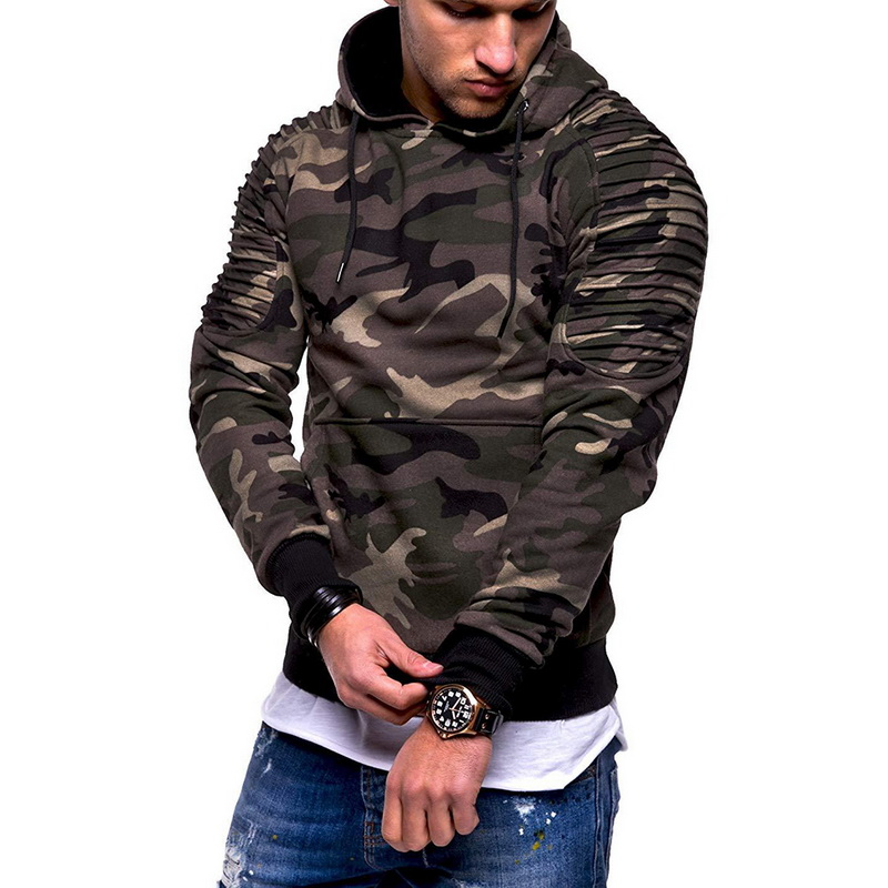 Camouflage Hoodies Men 2019 New Fashion Sweatshirt Male Camo Hoody Hip  Autumn Winter Military Hoodie Plus Size 3XL