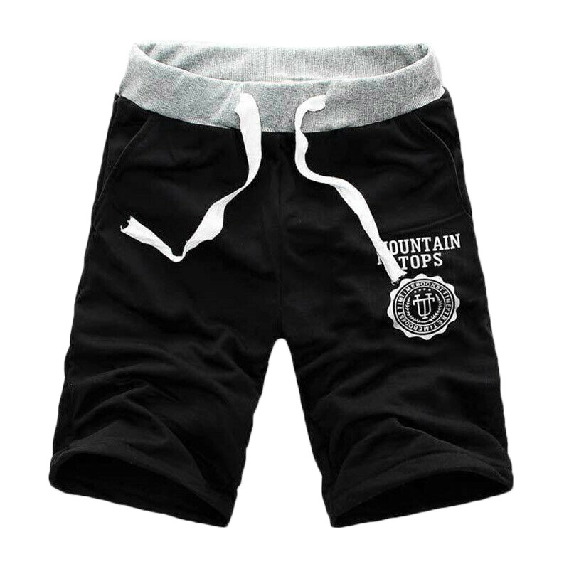 Pants Joggers Cargo-Shorts Multi-Pocket-Pants Half-Trousers Hawaiian Plain Male Sport title=