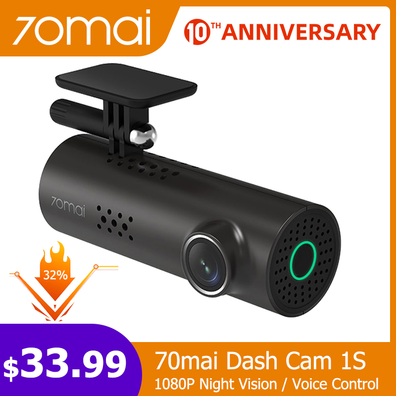 70mai Car DVR Video-Recorder Voice-Control Dash-Cam Camera-Wifi-App G-Sensor Night-Vision title=