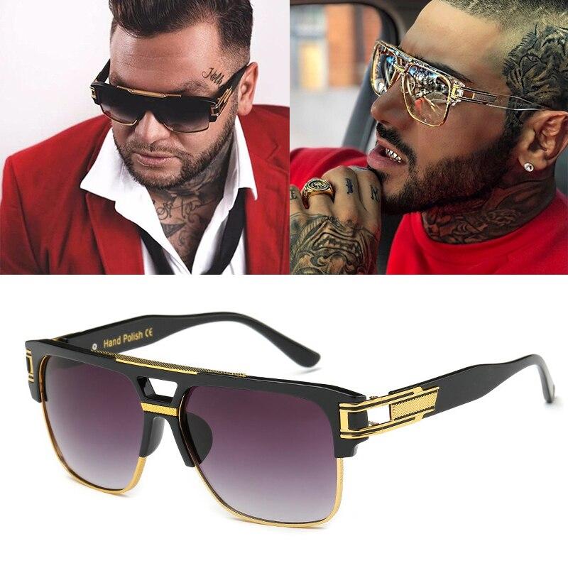 Men Women Sunglasses Square Frame Vintage Trendy Fashion Retro Shades Glasses