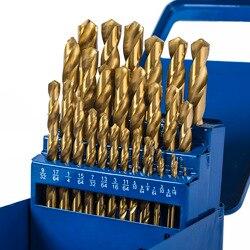 Набор титановых сверл WORKPRO из 29 деталей в металлический чехол