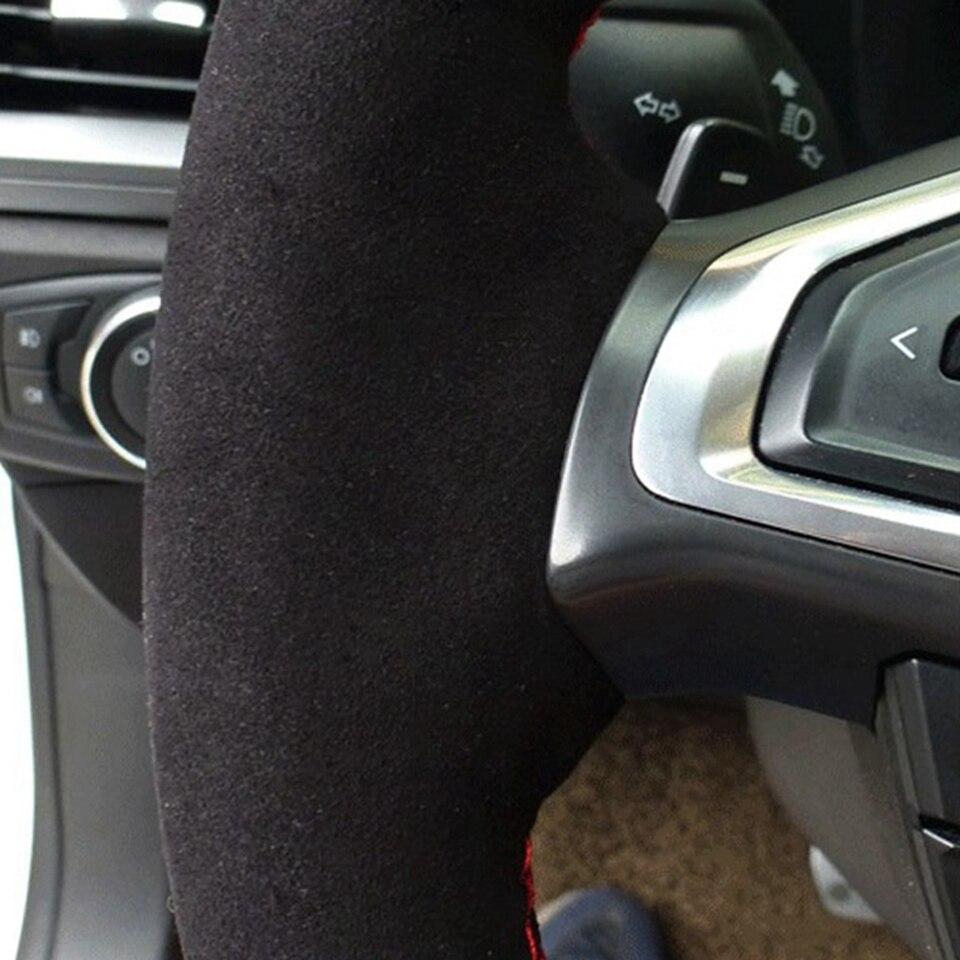 GNUPME-Black-DIY-Hand-Stitched-Suede-Steering-Wheel-Cover-for-BMW-E90-325i-330i-335i-Car (2)