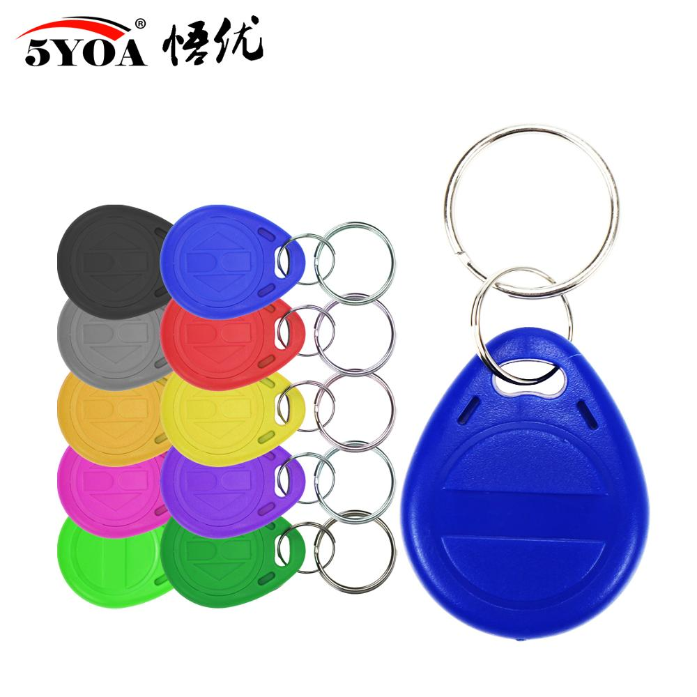 Keyfobs-Ring Token Rfid Tag Duplicate Blank-Access Proximity-Id Rewritable Copy 125khz title=