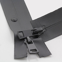 Open-End Zippers Sewing Double-Sliders Waterproof Clothes-Supplies Nylon Invisible Two-Way