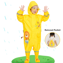 Waterproof Jumpsuit Pants Rainwear Girls Hooded Baby One-Piece Kids Dinosaur And Cartoon