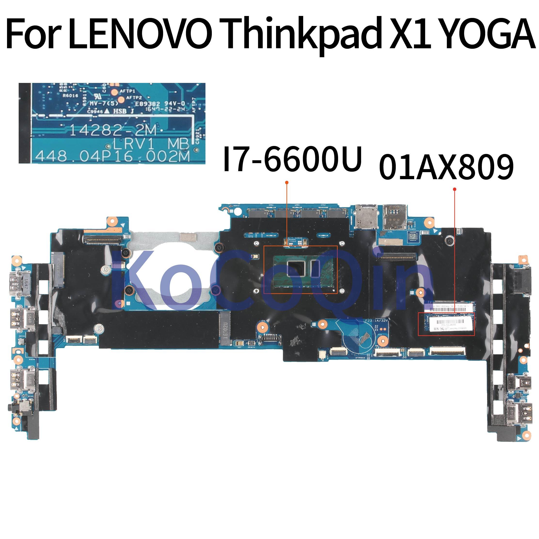 01AX808 for Lenovo ThinkPad X1 Carbon Type 20FB 20FC Motherboard i7-6600U 8GB
