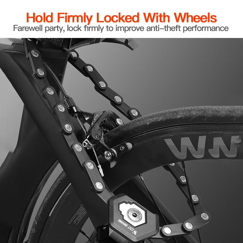 Chain Lock Bike Bicycle Heavy Duty Security Padlock Motorcycle Motorbike 3 Key