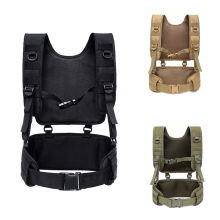 Waist-Padded-Belt Vest Harness Chest-Rig Paintball Body-Armor Training Airsoft Hunting